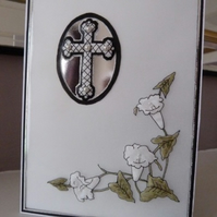 Personalised Cross Sympathy Card