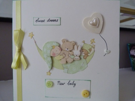 Sweet Dreams  Personalised New Baby Card
