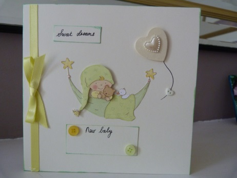 Personalised New Baby Sweet Dreams Card