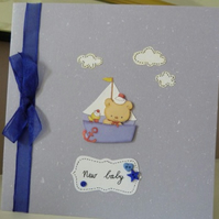New Baby Boy Sailor Card