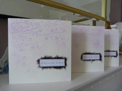 Pack of 3 Blossom Thank You cards
