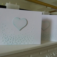 Pack of 3 Blank Green Heart Cards