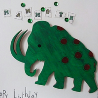 Childs Mammoth Birthday Card