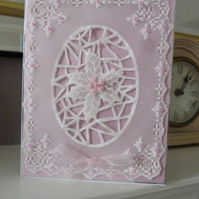 Special Parchment Winter Birthday Card