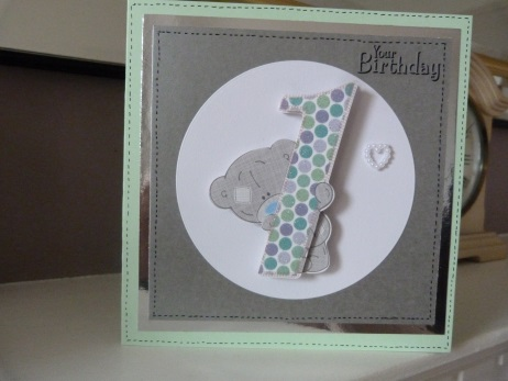 1st Birthday Card can personalise