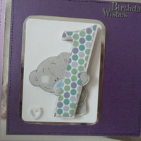 Childs 1st Birthday Card personalised