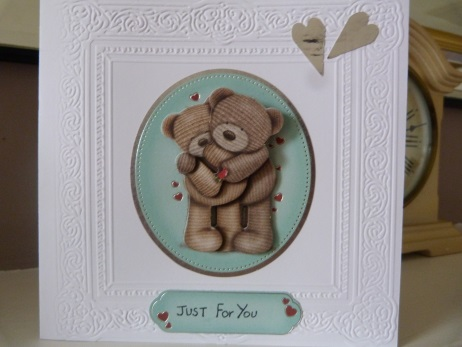 Hugging Teddies Romantic Valentines Card