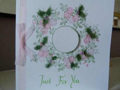 Pretty Floral Rose Birthday Card personalised