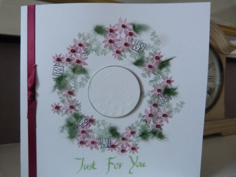 Poinsettia Circle Birthday card personalised