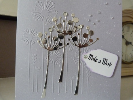Pale Grey Make A Wish Birthday Card