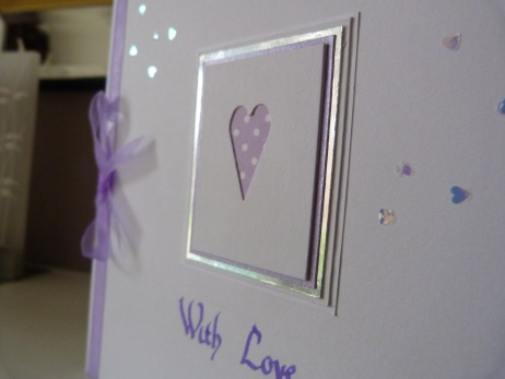 Lilac Heart Valentines Day Card