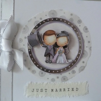 Just Married Wedding Card No 1