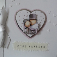 Heart  Just Married Wedding Card
