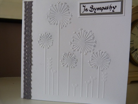 In Sympathy Dandelion Card