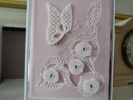 Modern Butterfly Parchment Card
