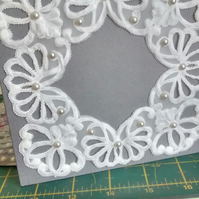Lacy honeysuckle parchment card