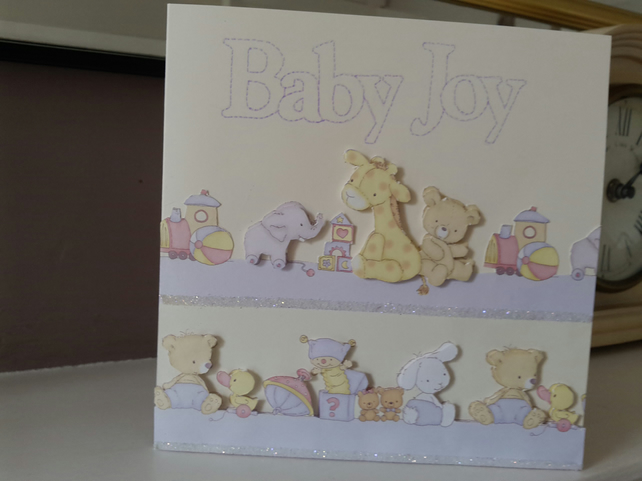Baby Joy New Baby Card