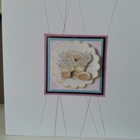 Cute congratulations bouquet card