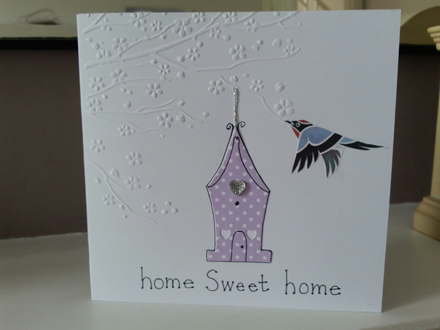 Home sweet home bluebird new home card