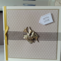 Gold modern with love card