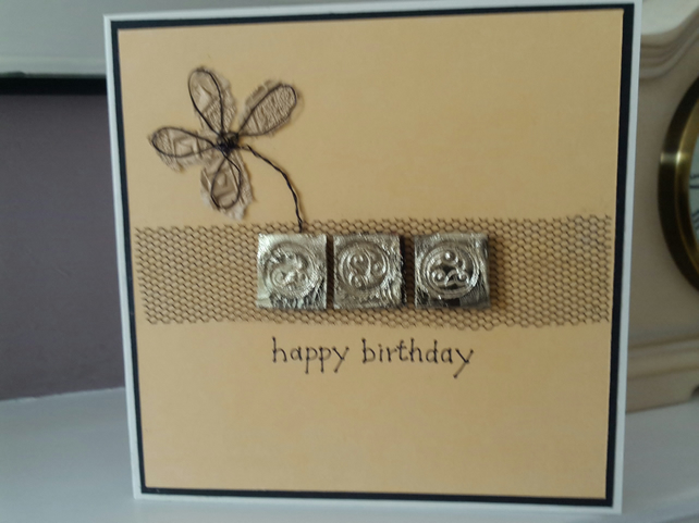 Celtic happy birthday card