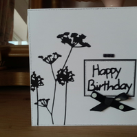 Monocolour allium birthday card