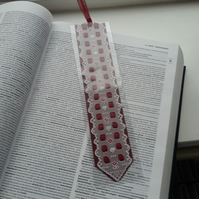 Hearts and flowers parchment bookmark