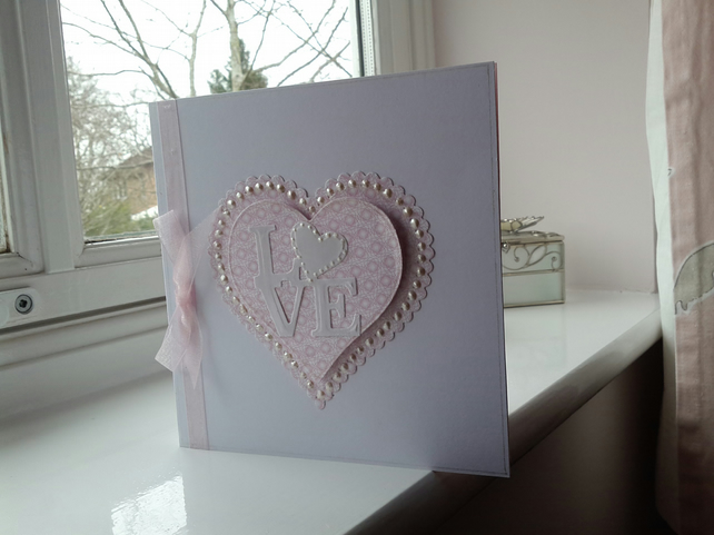 Pink pearl love card