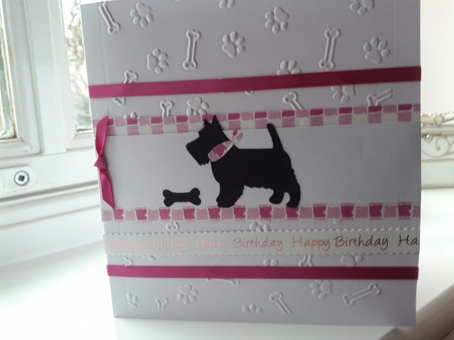 Scottie dog birthday card