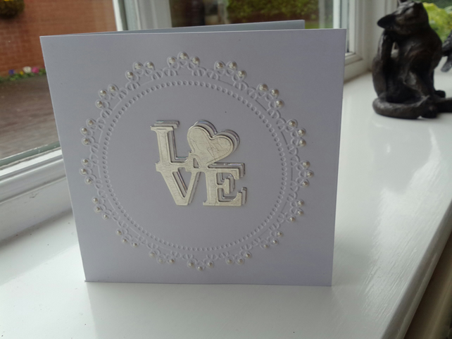 Triple love anniversary card