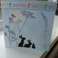 Countryside bunnies Easter card
