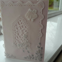 Beautiful church window parchment card