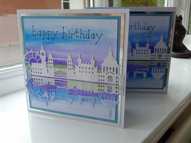 London skyline birthday card