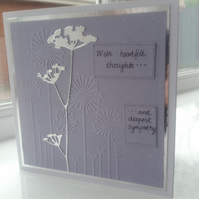 Heart felt thoughts sympathy card