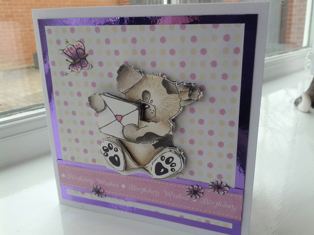 Sealed with love cute doggie birthday card