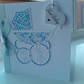 New baby boy pram card personalised