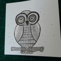 Open owl card