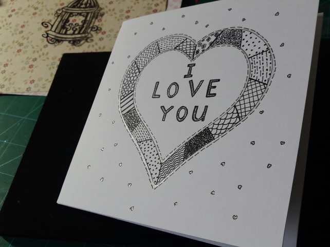 Love heart open card