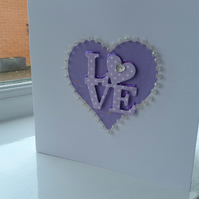 Romantic heart card