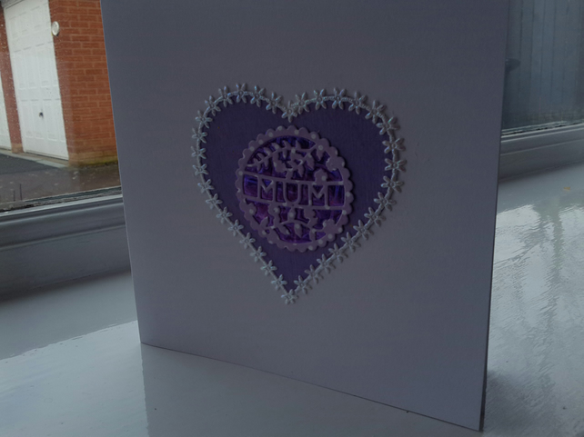 Heart card for mum