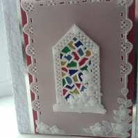 Stained glass parchment card