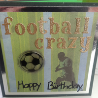 Football crazy birthday card