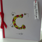 Personalised rose initial birthday card