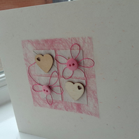 Pink hearts and more hearts anniversary card