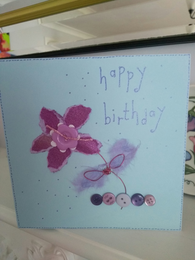 Funky purple birthday card