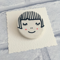 Ceramic Brooch, Ceramic Pin, Brooch Lover, OOAK, Cool Pin, Gift Idea