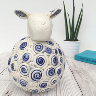 Ceramic Sheep, Handmade Home Decor, Sheep Lover, Ceramic Sculpture, Animal Lover