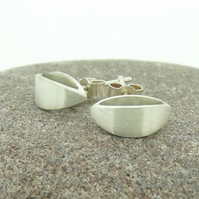 'Curve' Stud Earrings in Sterling Silver