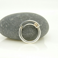 'Rolling' Kinetic Ring in Sterling Silver with 9ct Gold