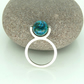 'Globe' Kinetic Spinning Ring in Sterling Silver with Chrysocolla UK Size P
